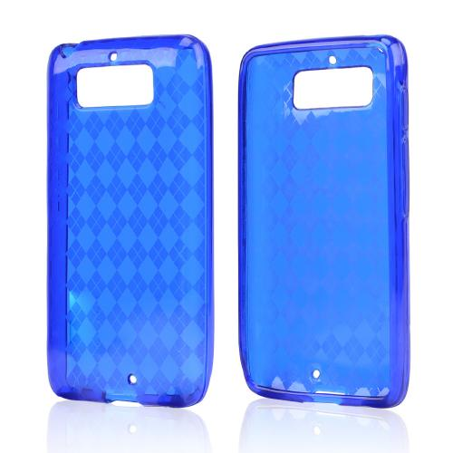 Argyle Blue Crystal Silicone Skin Case for Motorola Droid Mini
