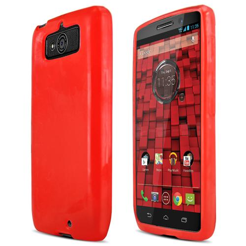 Argyle Red Crystal Silicone Skin Case for Motorola Droid Mini