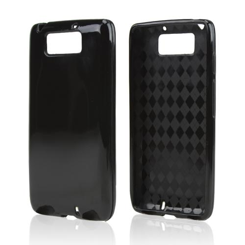 Black (Argyle Interior) Crystal Silicone Skin Case for Motorola Droid Ultra/ Droid MAXX