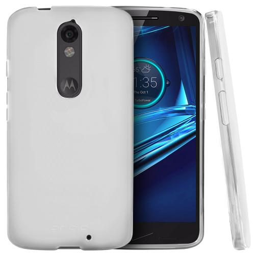 Motorola Driod Turbo 2 Case,  [Clear]  Slim & Flexible Anti-shock Crystal Silicone Protective TPU Gel Skin Case Cover