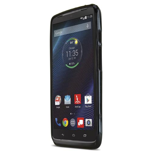 Motorola Droid Turbo Tpu Case [black / Clear] Protective Bumper Case W/ Flexible Crystal Silicone Tpu Impact Resistant Material