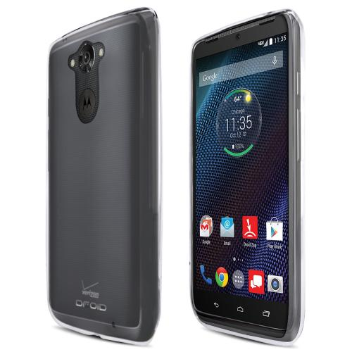 Motorola Droid Turbo Tpu Case [clear] Protective Bumper Case W/ Flexible Crystal Silicone Tpu Impact Resistant Material