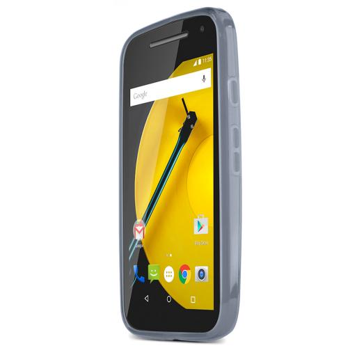 Smoke Motorola Moto E (2nd Gen.) Flexible Crystal Silicone TPU Case - Conforms To Your Phone Without Stretching Out!