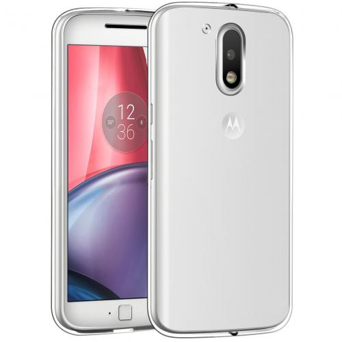 [Motorola Moto G4] 2016 (4th Gen.) Case, [Clear] Slim & Flexible Anti-shock Crystal Silicone Protective TPU Gel Skin Case Cover