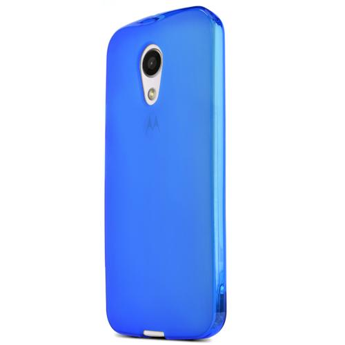 Motorola Moto G 2014 Tpu Case [blue / Frost] Protective Bumper Case W/ Flexible Crystal Silicone Tpu Impact Resistant Material