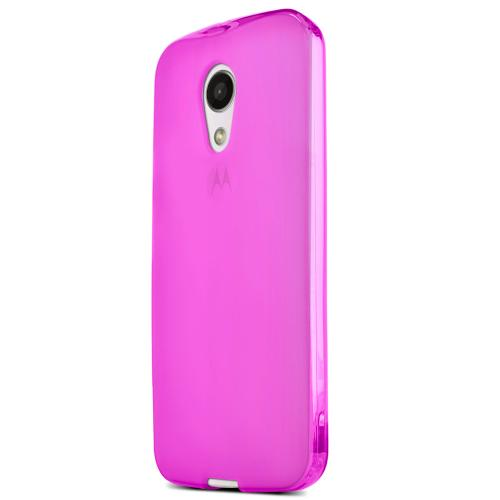 Motorola Moto G 2014 Tpu Case [pink / Frost] Protective Bumper Case W/ Flexible Crystal Silicone Tpu Impact Resistant Material