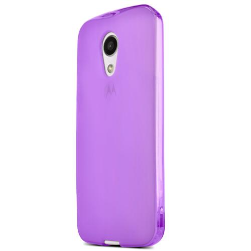 Motorola Moto G 2014 Tpu Case [purple / Frost] Protective Bumper Case W/ Flexible Crystal Silicone Tpu Impact Resistant Material