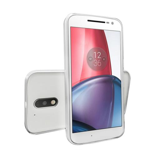 [Motorola Moto G4 Plus] 2016 (4th Gen.) Case, [Clear] Slim & Flexible Anti-shock Crystal Silicone Protective TPU Gel Skin Case Cover