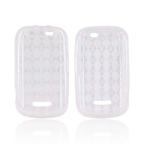 Motorola Clutch+ i475 Crystal Silicone Case - Argyle Clear