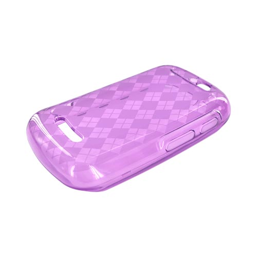 Motorola Clutch+ i475 Crystal Silicone Case - Argyle Purple