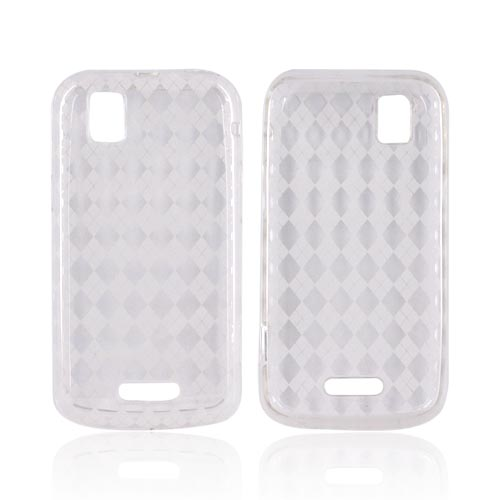 Motorola XPRT MB612 Crystal Silicone Case - Argyle Clear