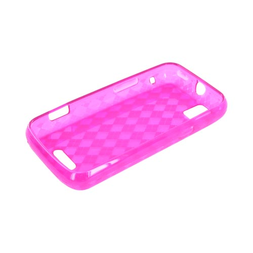 Motorola XPRT MB612 Crystal Silicone Case - Argyle Hot Pink