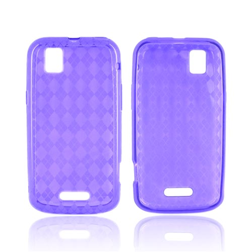 Motorola XPRT MB612 Crystal Silicone Case - Argyle Purple