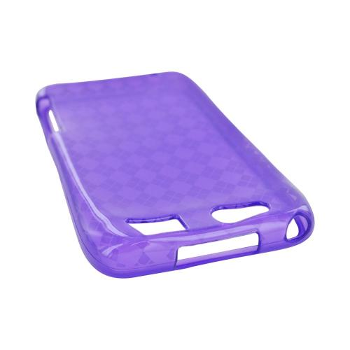 Motorola Atrix HD Crystal Silicone Case - Argyle Purple