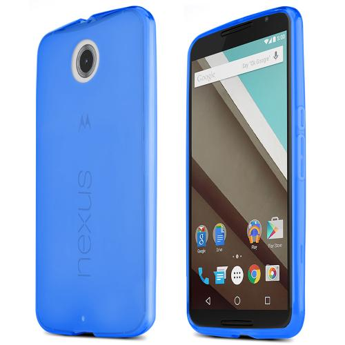 Motorola Nexus 6 Tpu Case [blue / Clear] Protective Bumper Case W/ Flexible Crystal Silicone Tpu Impact Resistant Material