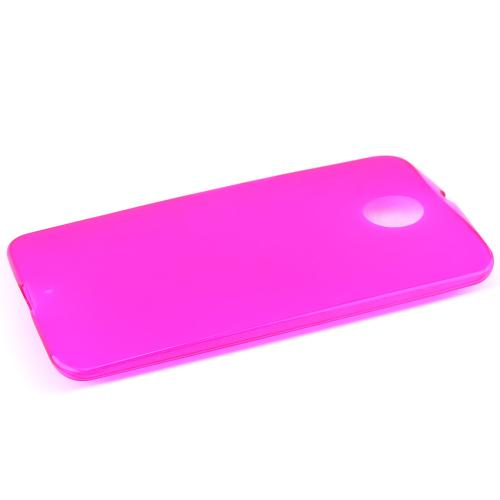 Motorola Nexus 6 Tpu Case [hot Pink] Protective Bumper Case W/ Flexible Crystal Silicone Tpu Impact Resistant Material