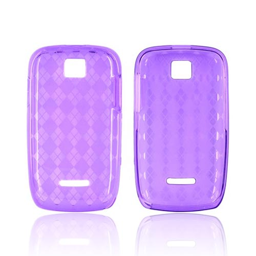Motorola Theory Crystal Silicone Case - Argyle Purple