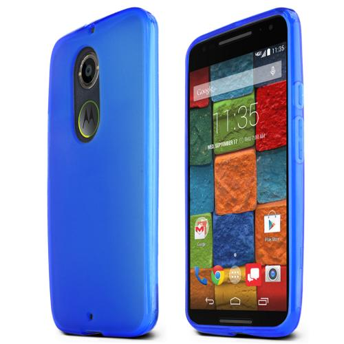 Motorola Moto X (2014) Skin [blue/frost] Protective Bumper Case W/ Flexible Tpu Impact Resistant Material [Fitting Motorola Moto X (2014) Case]