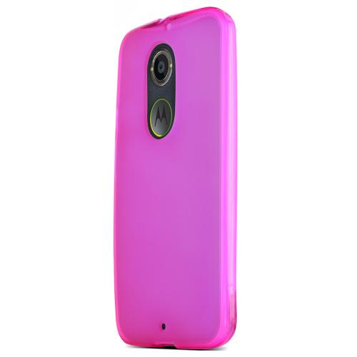 Motorola Moto X (2014) Skin [hot Pink/frost] Protective Bumper Case W/ Flexible Tpu Impact Resistant Material [Fitting Motorola Moto X (2014) Case]