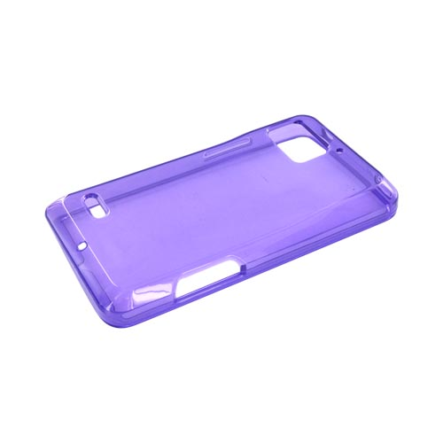 Motorola Droid Bionic XT875 Crystal Silicone Case - Purple