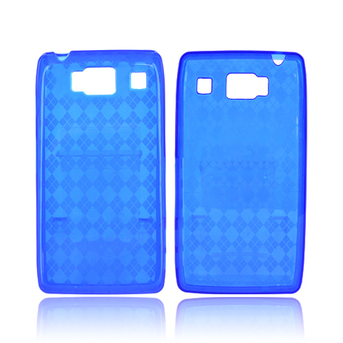 Motorola Droid RAZR HD Crystal Silicone Case - Argyle Blue