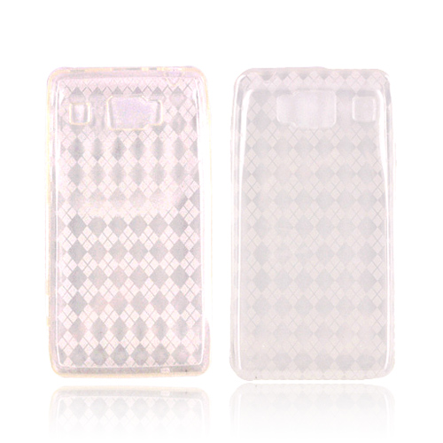Motorola Droid RAZR HD Crystal Silicone Case - Argyle Clear