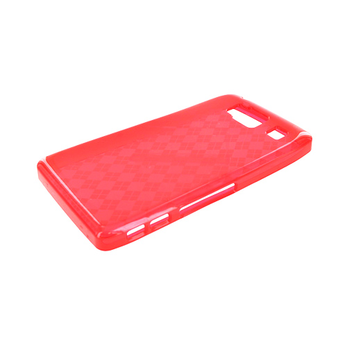 Motorola Droid RAZR HD Crystal Silicone Case - Argyle Red