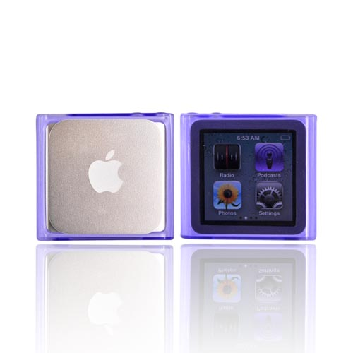 Luxmo Apple iPod Nano 6 Crystal Silicone Case - Purple