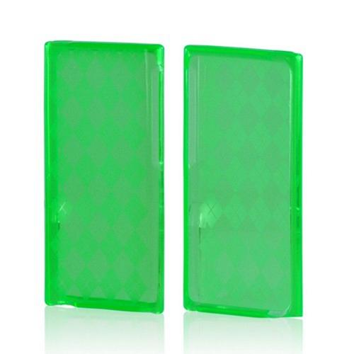 Green Argyle Crystal Silicone Case for Apple iPod Nano 7