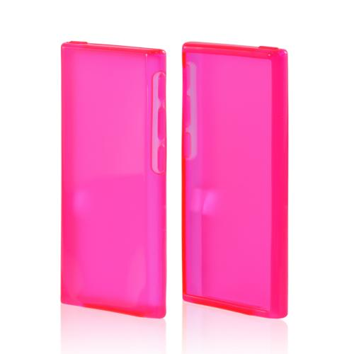 Apple iPod Nano 7 Crystal Silicone Case - Hot Pink