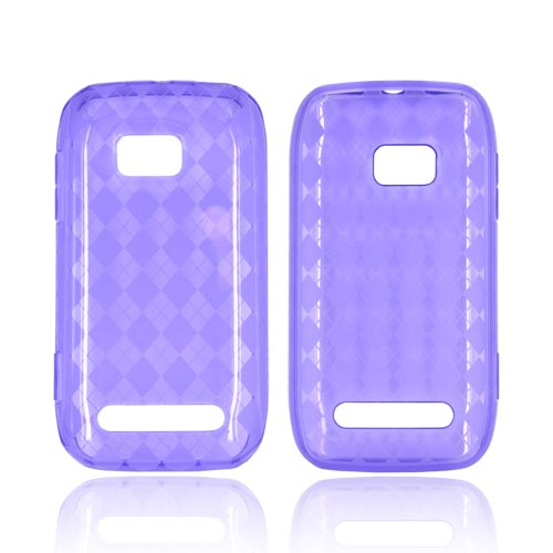 Nokia Lumia 710 Crystal Silicone Case - Argyle Purple