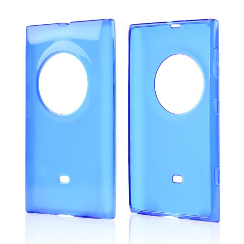 Blue Crystal Silicone Skin Case for Nokia Lumia 1020
