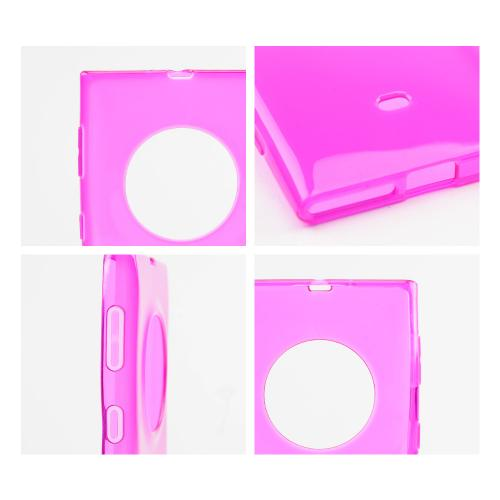 Hot Pink Crystal Silicone Skin Case for Nokia Lumia 1020