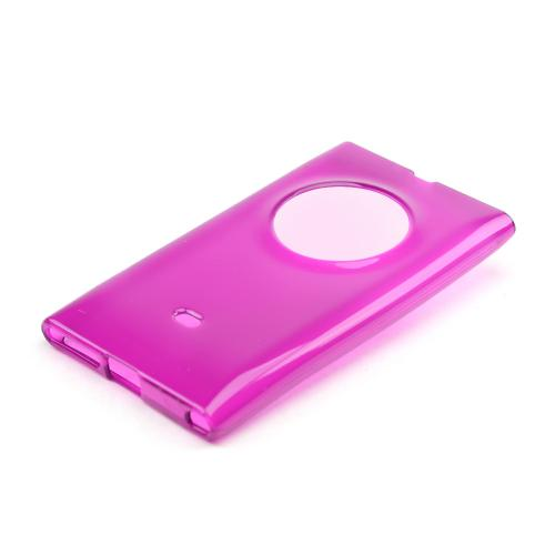Purple Crystal Silicone Skin Case for Nokia Lumia 1020