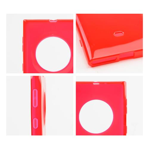 Red Crystal Silicone Skin Case for Nokia Lumia 1020