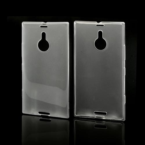 Clear/ Frosted Crystal Silicone Skin Case for Nokia Lumia 1520