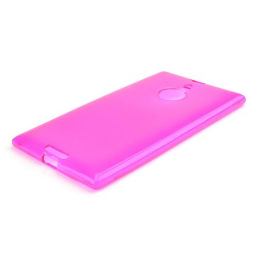 Hot Pink/ Frosted Crystal Silicone Skin Case for Nokia Lumia 1520