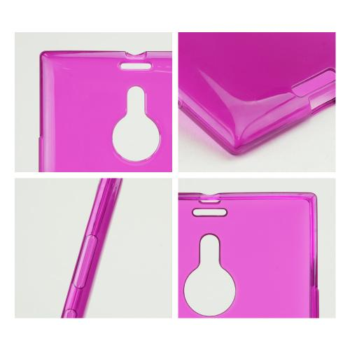 Purple/ Frosted Crystal Silicone Skin Case for Nokia Lumia 1520