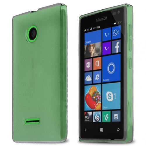 Nokia Lumia 435 Case, STANDARD CLEAR Slim & Flexible Crystal Silicone TPU Skin Case Cover