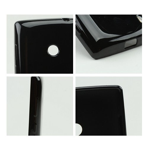 Black Crystal Silicone Case for Nokia Lumia 521