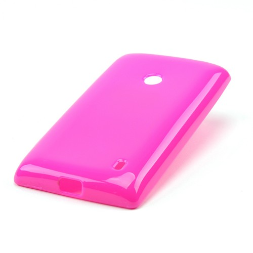 Hot Pink Crystal Silicone Case for Nokia Lumia 521