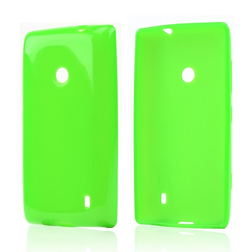 Neon Green Crystal Silicone Case for Nokia Lumia 521
