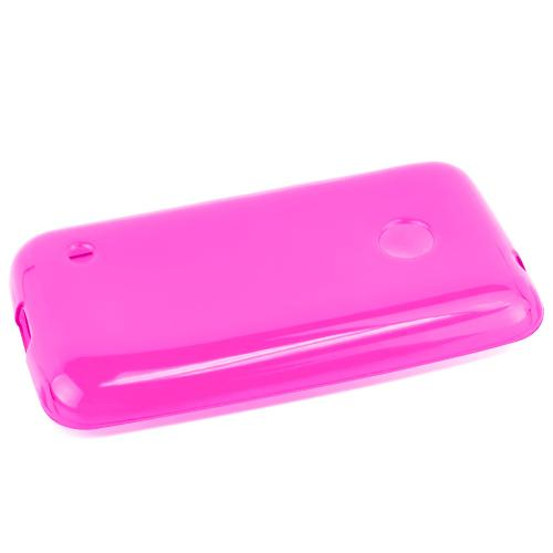 Pink/ Frost Nokia Lumia 530 Flexible Crystal Silicone TPU Case - Conforms To Your Phone Without Stretching Out!
