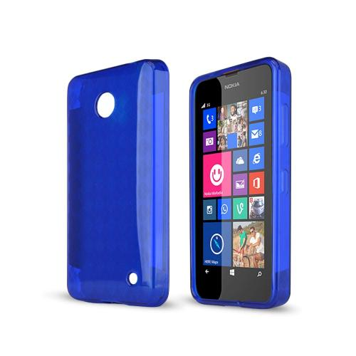 Argyle Blue Nokia Lumia 635 Flexible Crystal Silicone TPU Case - Conforms To Your Phone Without Stretching Out!