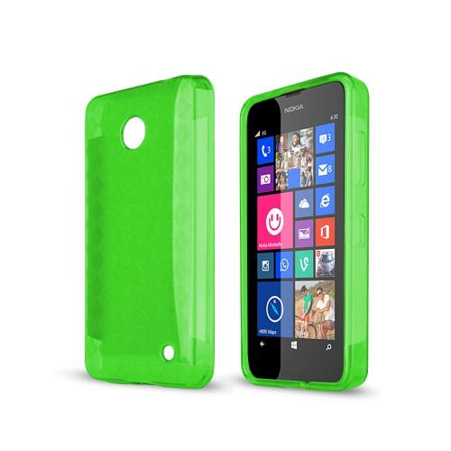 Argyle Neon Green Nokia Lumia 635 Flexible Crystal Silicone TPU Case - Conforms To Your Phone Without Stretching Out!
