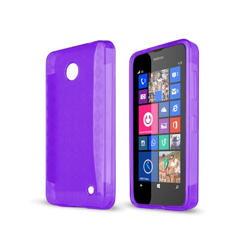 Manufacturers Argyle Purple Nokia Lumia 635 Flexible Crystal Silicone TPU Case - Conforms To Your Phone Without Stretching Out! Skins