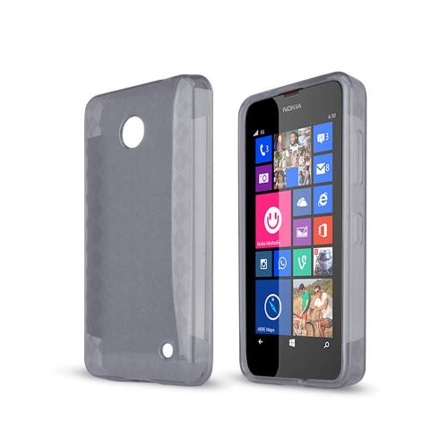 Manufacturers Argyle Smoke Nokia Lumia 635 Flexible Crystal Silicone TPU Case - Conforms To Your Phone Without Stretching Out! Skins