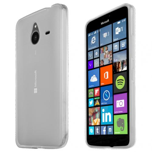 Nokia Lumia 640 XL Case,Clear Slim & Flexible Anti-shock Crystal Silicone TPU Skin Protective Cover