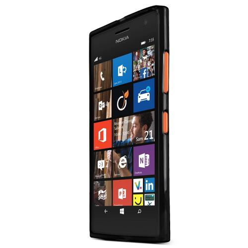 Lumia 735 Case, [Black] Slim & Flexible Crystal Silicone TPU Skin Cover for Nokia Lumia 735