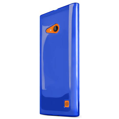Lumia 735 Case, [Blue] Slim & Flexible Crystal Silicone TPU Skin Cover for Nokia Lumia 735